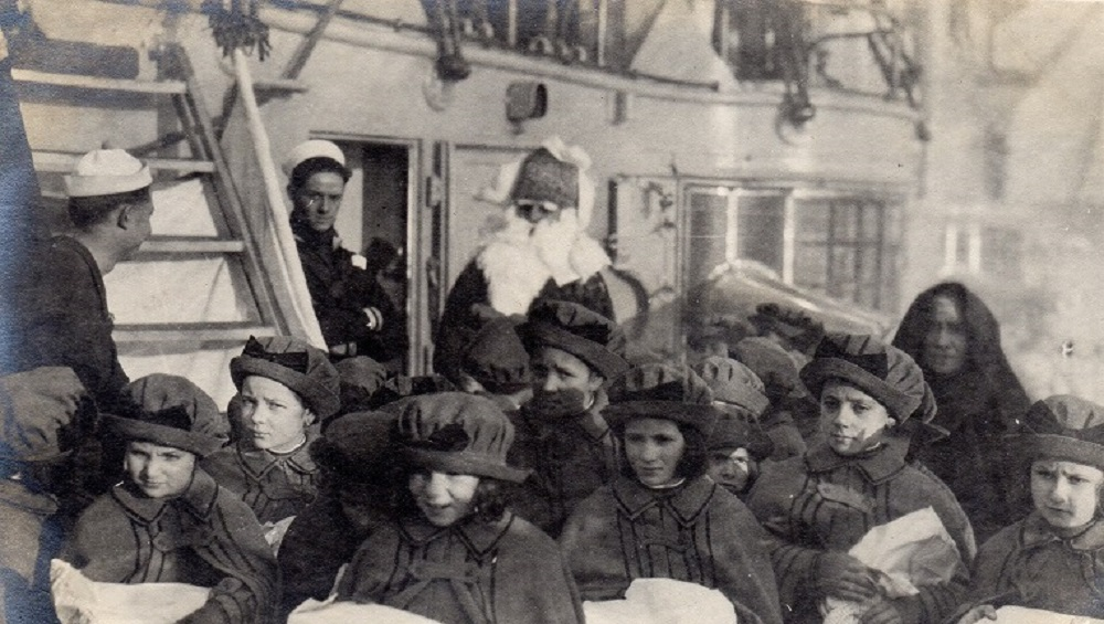 Orphans on OLYMPIA with Santa in Venice