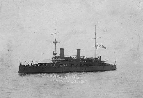 OLYMPIA on her earliest coastal patrol, May 1915
