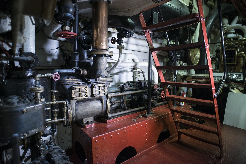 OLYMPIAs Starboard side engine room