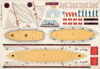 Paper model of OLYMPIA 1896