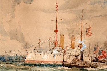 Watercolor of OLYMPIA in NYC 1899