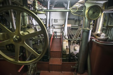 Inside OLYMPIAs engine room