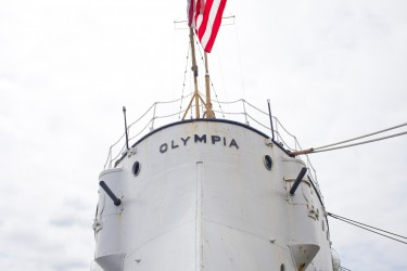 Paul C. Hutchins, Sr., served aboard Olympia on the voyage to bring home the Unknown Soldier.